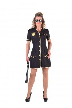 Police girl zwart politie-0
