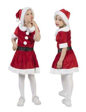 Kerstmeisje met muts-0