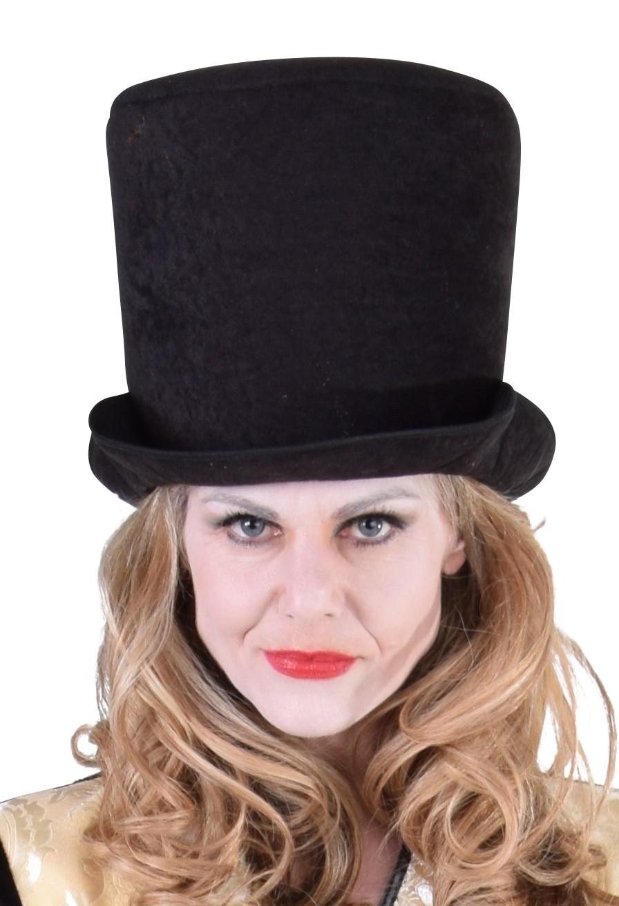 Hoge hoed uni zwart-0