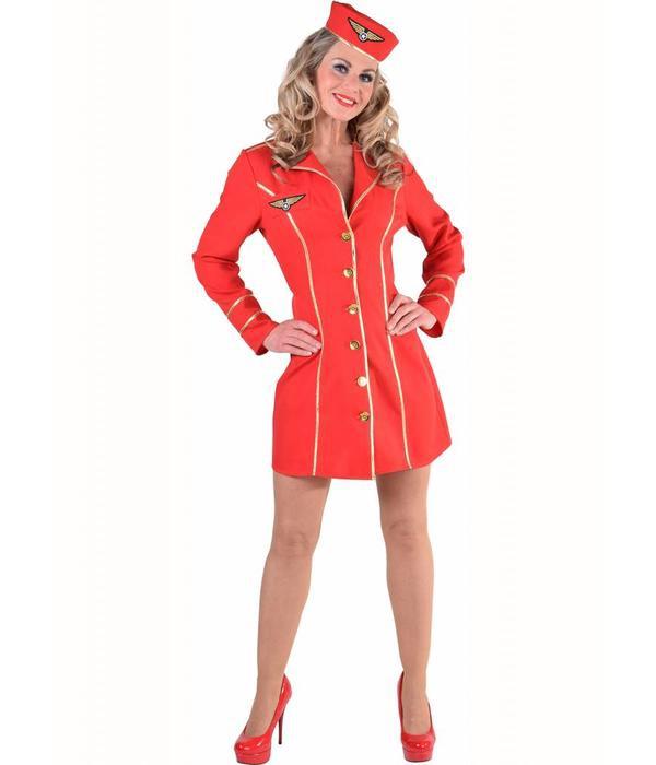 Stewardess rood-0