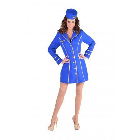 Stewardess blauw-0