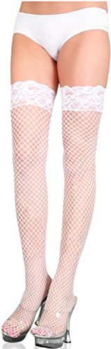 Stay Up Fishnet Thigh Highs-0