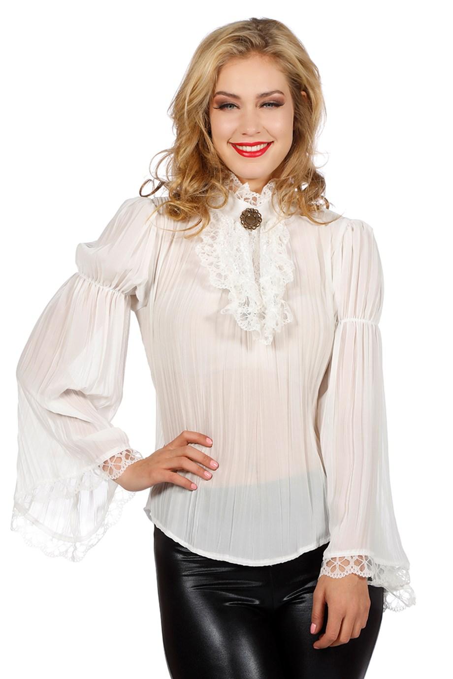 Piraten/Gothic blouse ecru-0