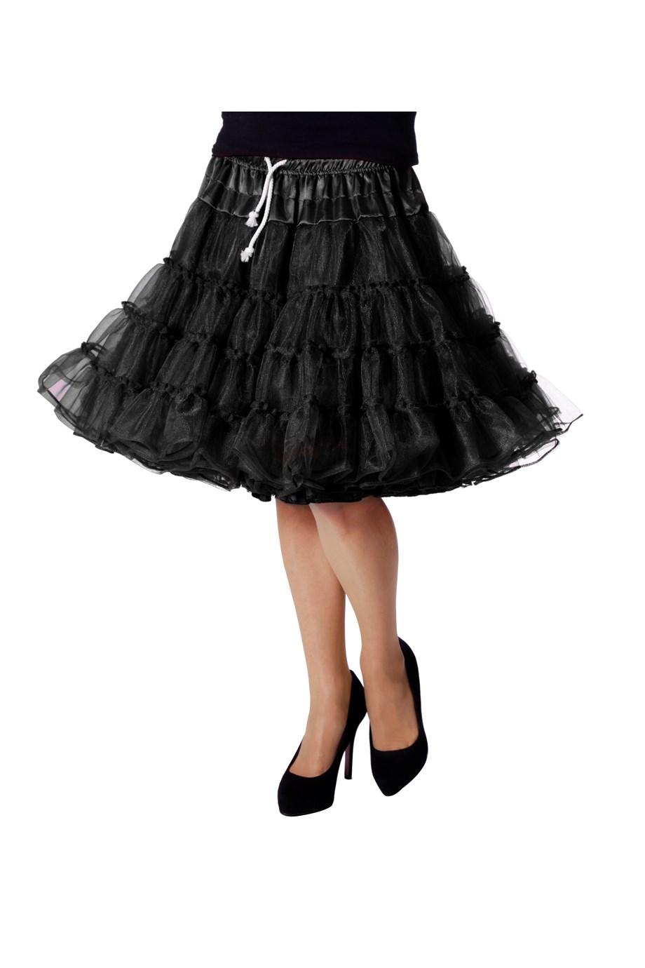 Petticoat luxe zwart-0