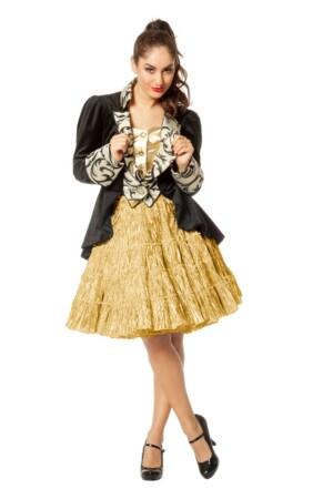 Petticoat luxe metalic goud-0
