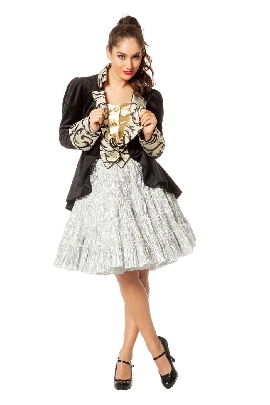 Petticoat luxe metalic zilver-0