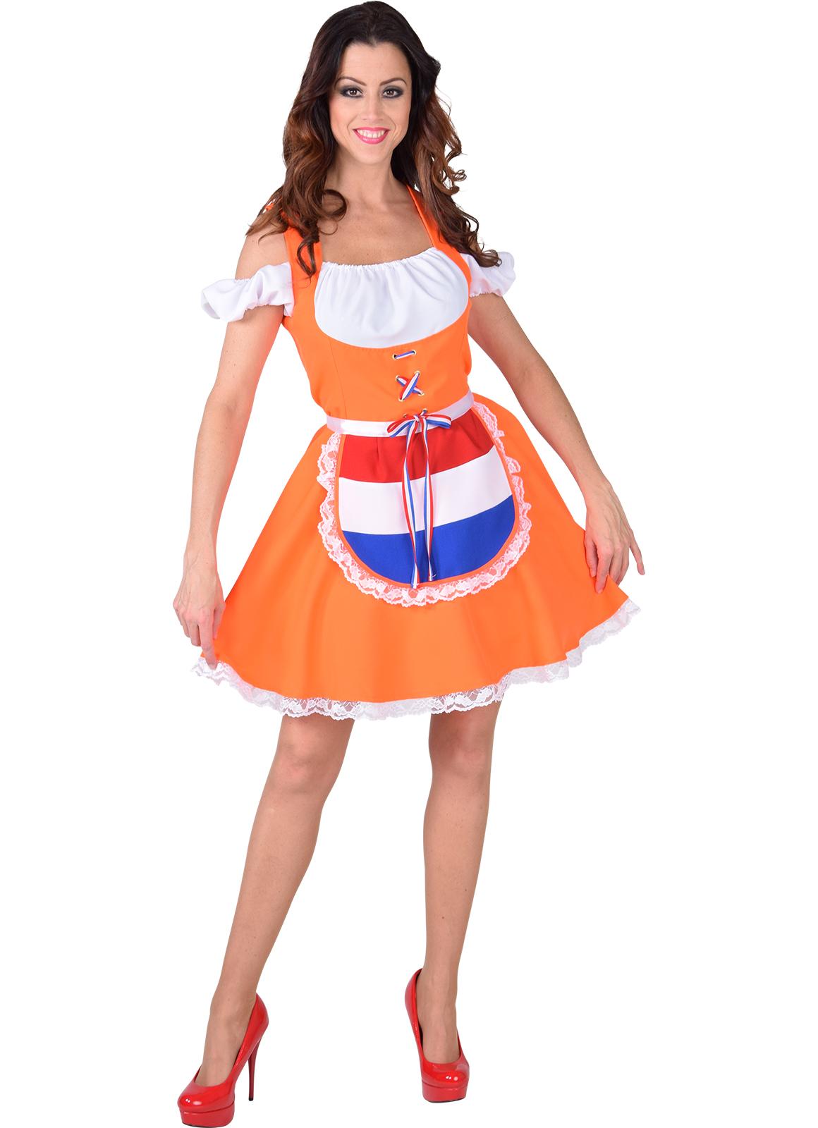 Dirndl Oranje oktoberfest Holland-0