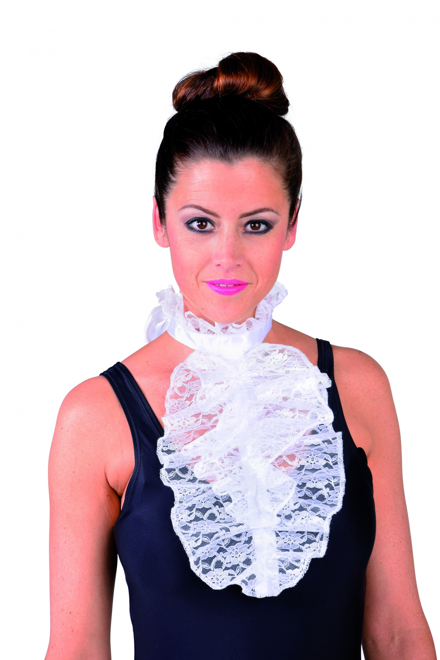 Jabot luxe kant wit-0