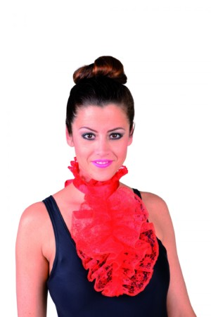 Jabot luxe kant rood-0