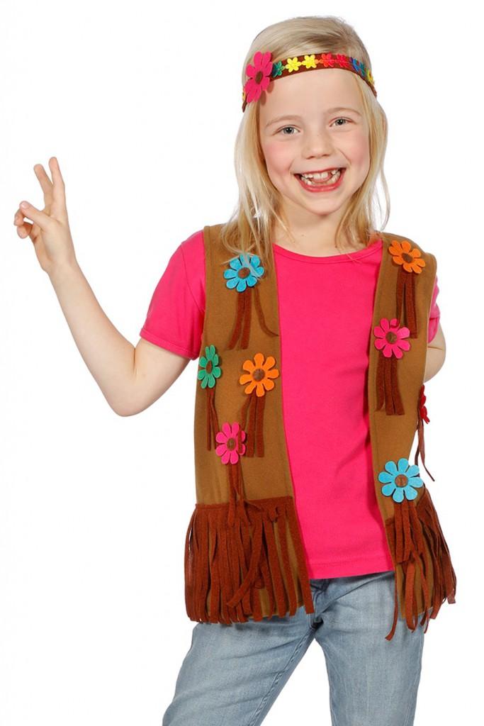 Hippie vest meisje met haarband-0