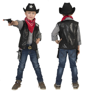 Cowboy vest zwart-0