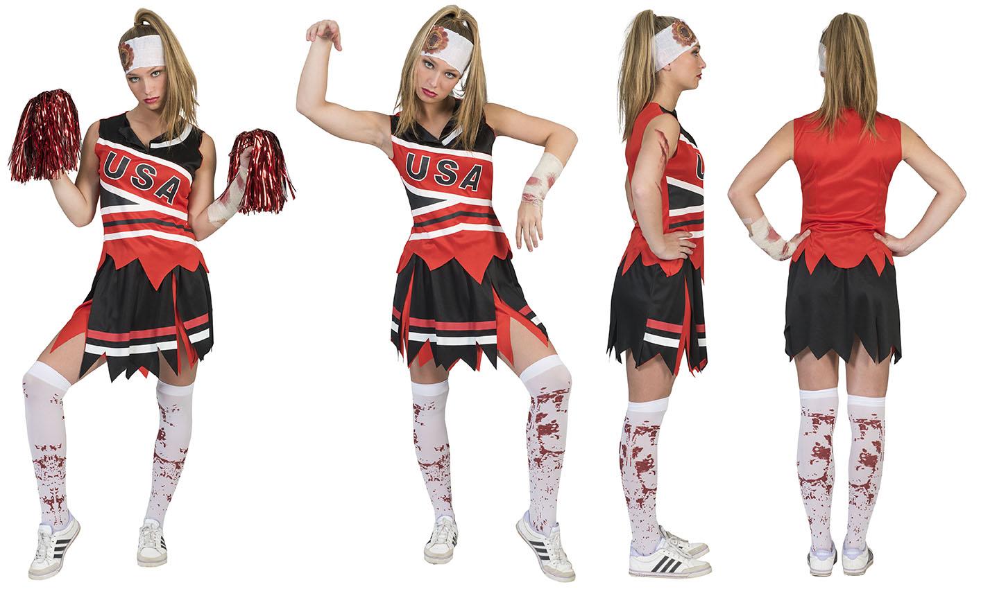 Zombie Football lady Halloween-0