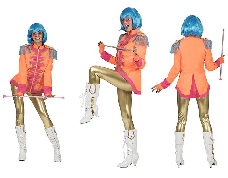 Beatles jasje hippie oranje-0