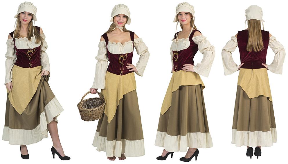 Middeleeuwse vrouw boerin-0