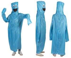 Blower pak kostuum blauw-0