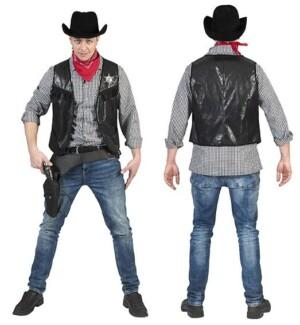Cowboyvest zwart-0