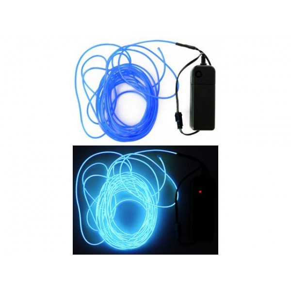 5 meter ledsnoer verlichting blauw -0