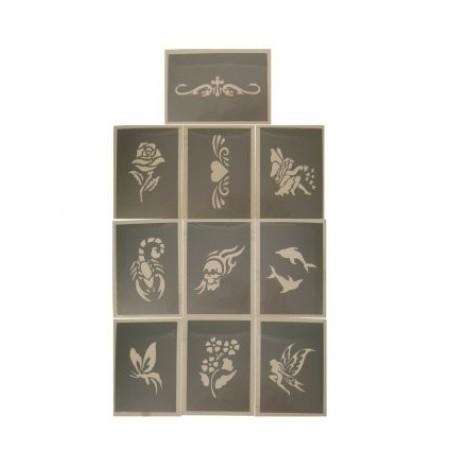 PXP schminksjabloon 10 stuks Serie I 6.5 x 9.5 cm-0