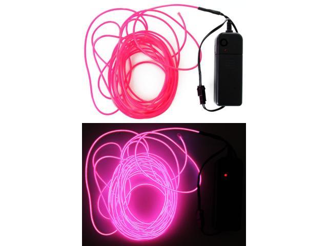 5 meter ledsnoer verlichting Neon Pink-0