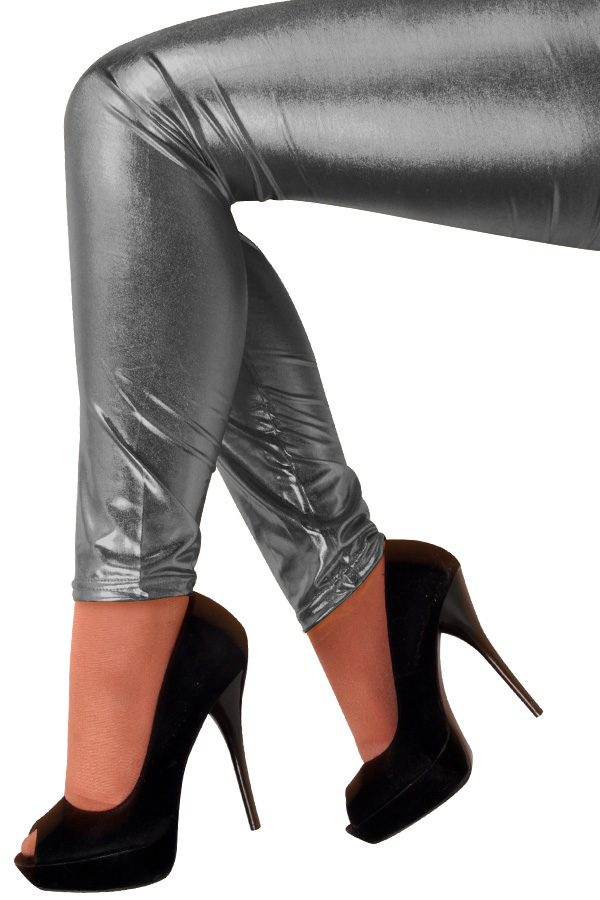 Legging metallic antraciet-0