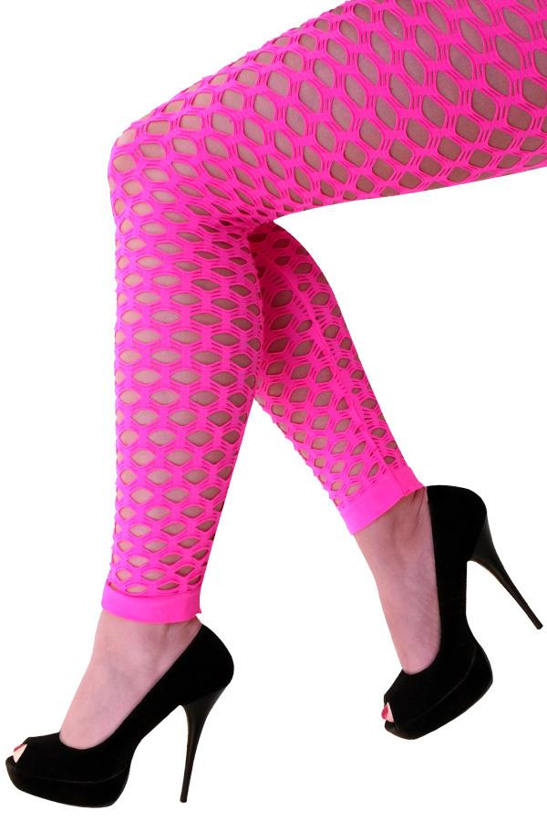 Dames naadloze gaten pink stretch legging-0