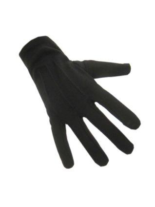 Handschoenen katoen kort zwart luxe (Piet)-0