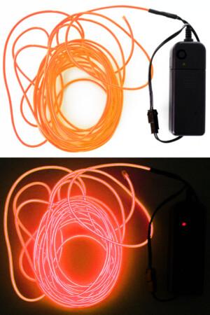 5 meter ledsnoer verlichting oranje-0