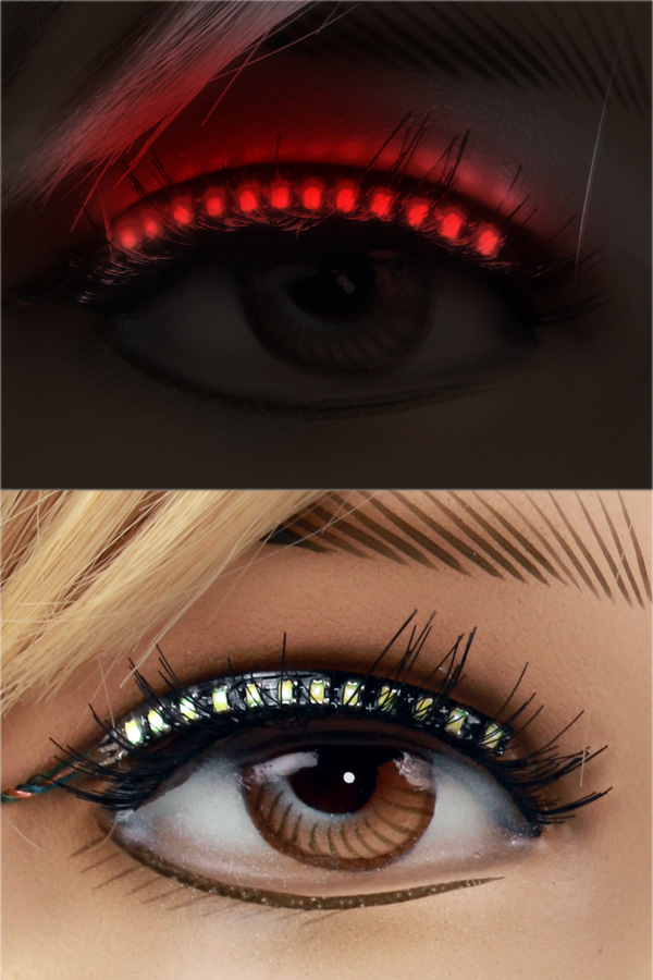 PXP Led lashes Rood-0