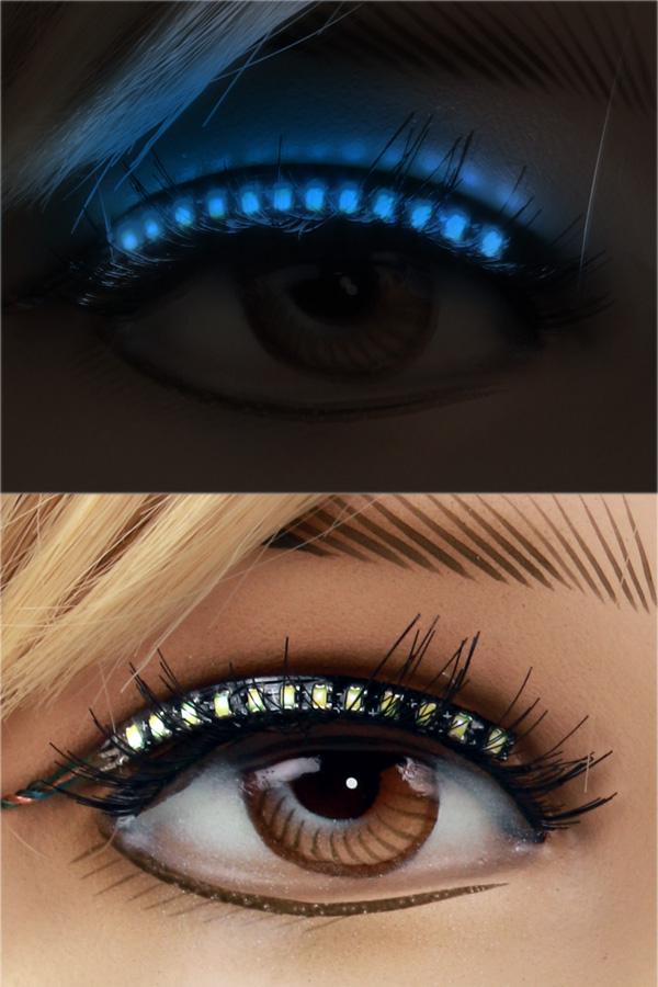 PXP Led lashes Blauw-0