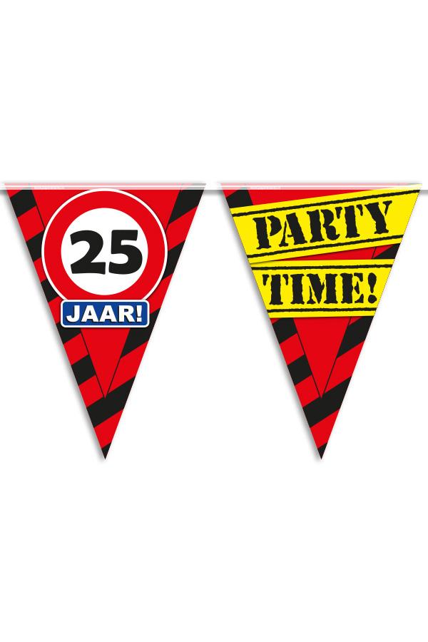 Vlaggenlijn 25 jaar PARTYTIME 10 mtr-0
