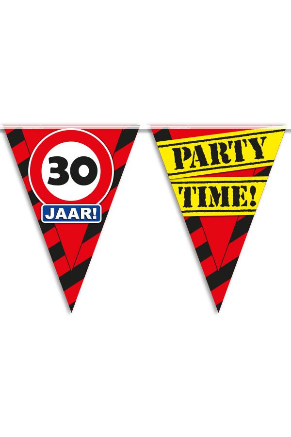 Vlaggenlijn 30 jaar PARTYTIME 10 mtr-0