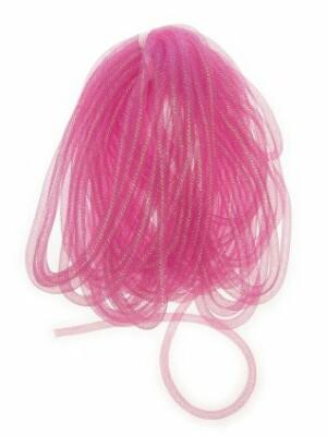 Decoslang tube op rol pink Ø 10 mm-0