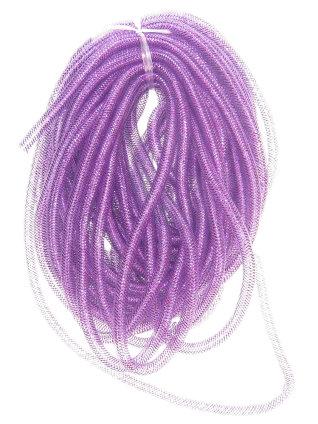 Decoslang tube op rol paars Ø 10 mm-0