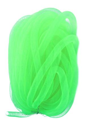 Decoslang tube op rol neon groen Ø16 mm-0