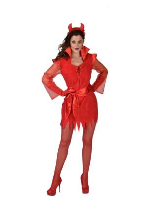 Jurk Halloween rood-0