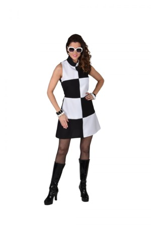 60's jurk Black/white-0