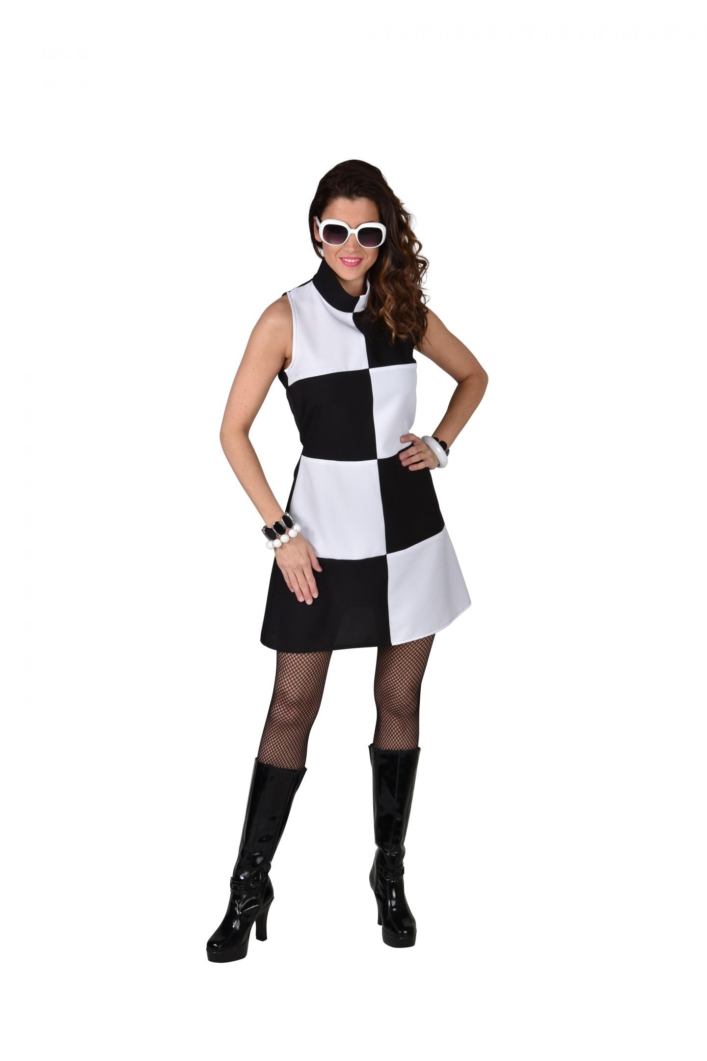 60's jurk Black/white-0