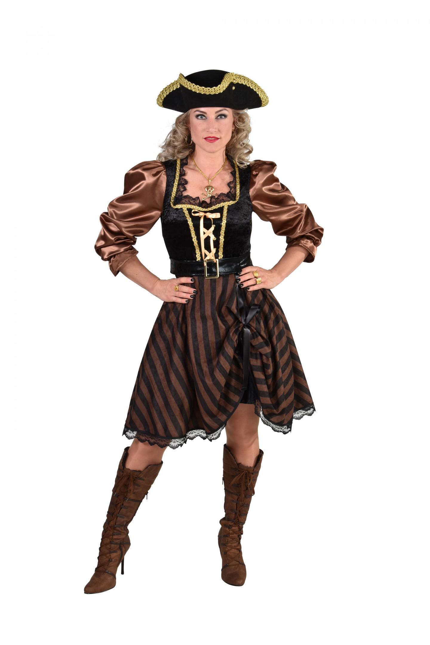 Piraat dame bruin/zwart-0