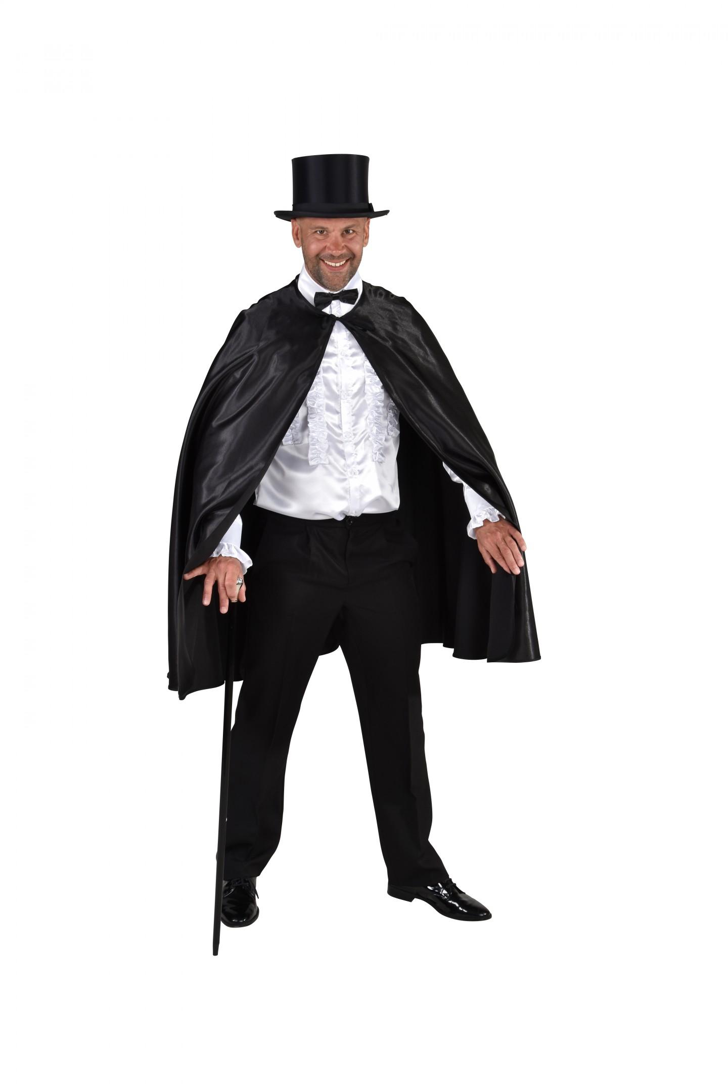 Halloween cape zwart-0