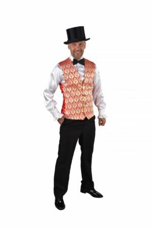 Vest brocaat royal rood-0