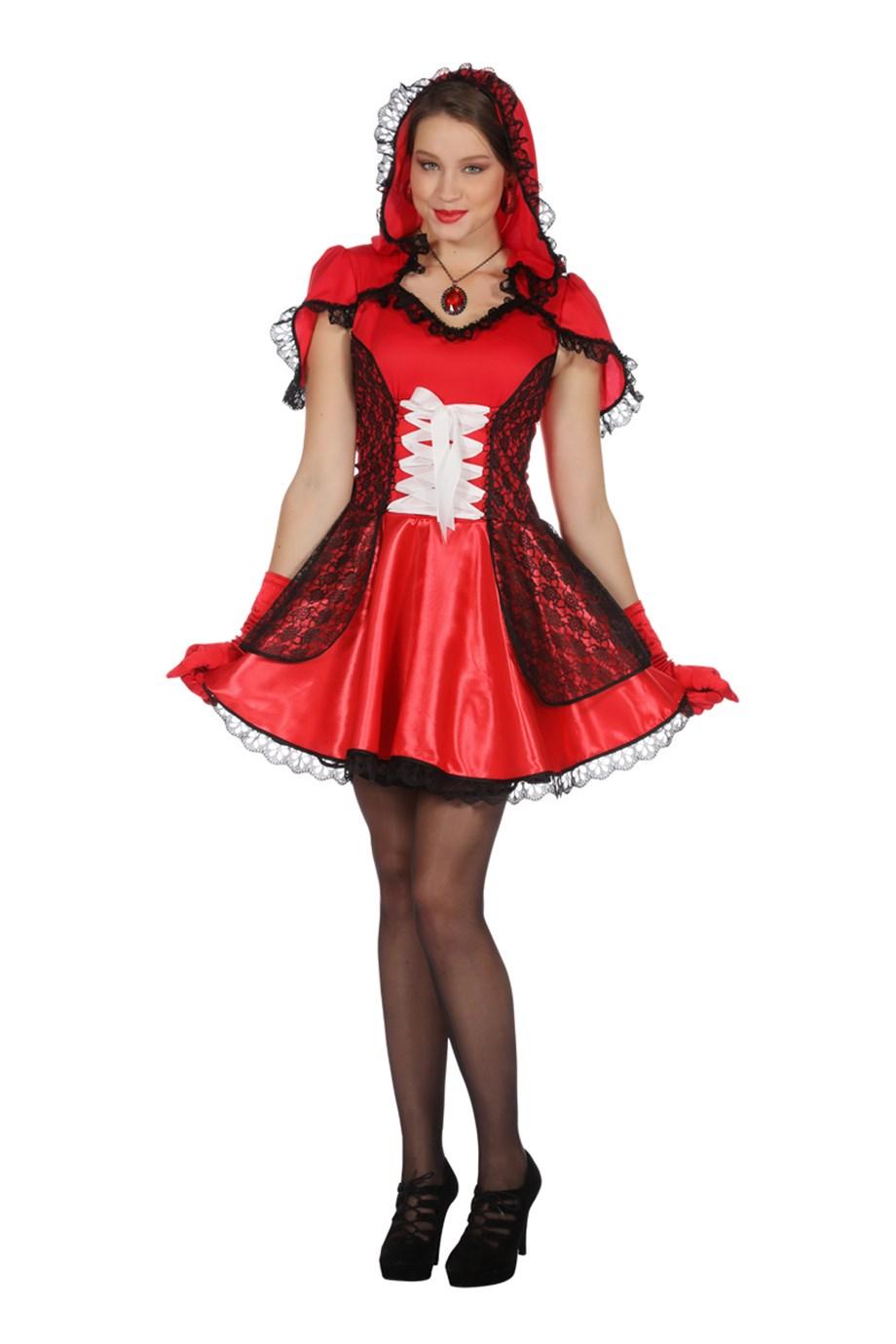 Rood jurkje met capuchon-0