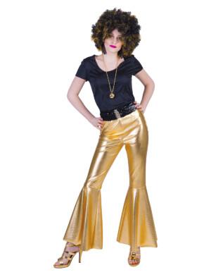 Disco fever broek goud-0
