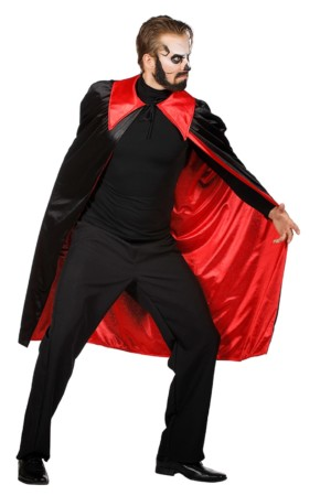 Draculacape zwart/rood-0