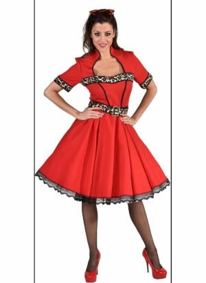 50's jurk sheeba/rood