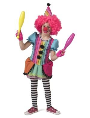 Regenboog clown meisje