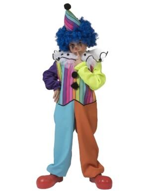 Regenboog clown jongen