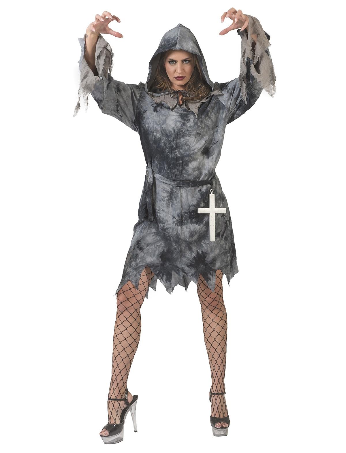 Grijs demon zombie vrouw