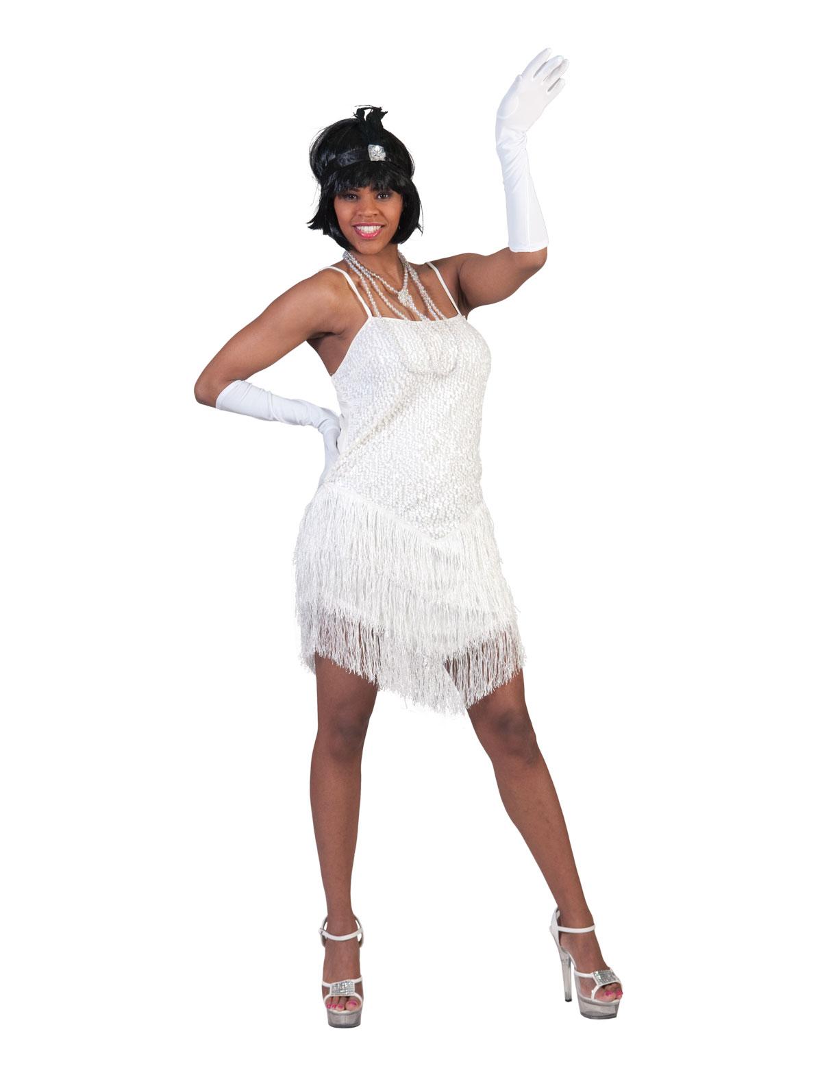 Charleston jurk wit