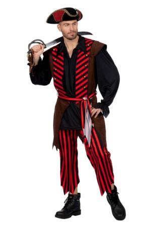 Piraat bruin/rood