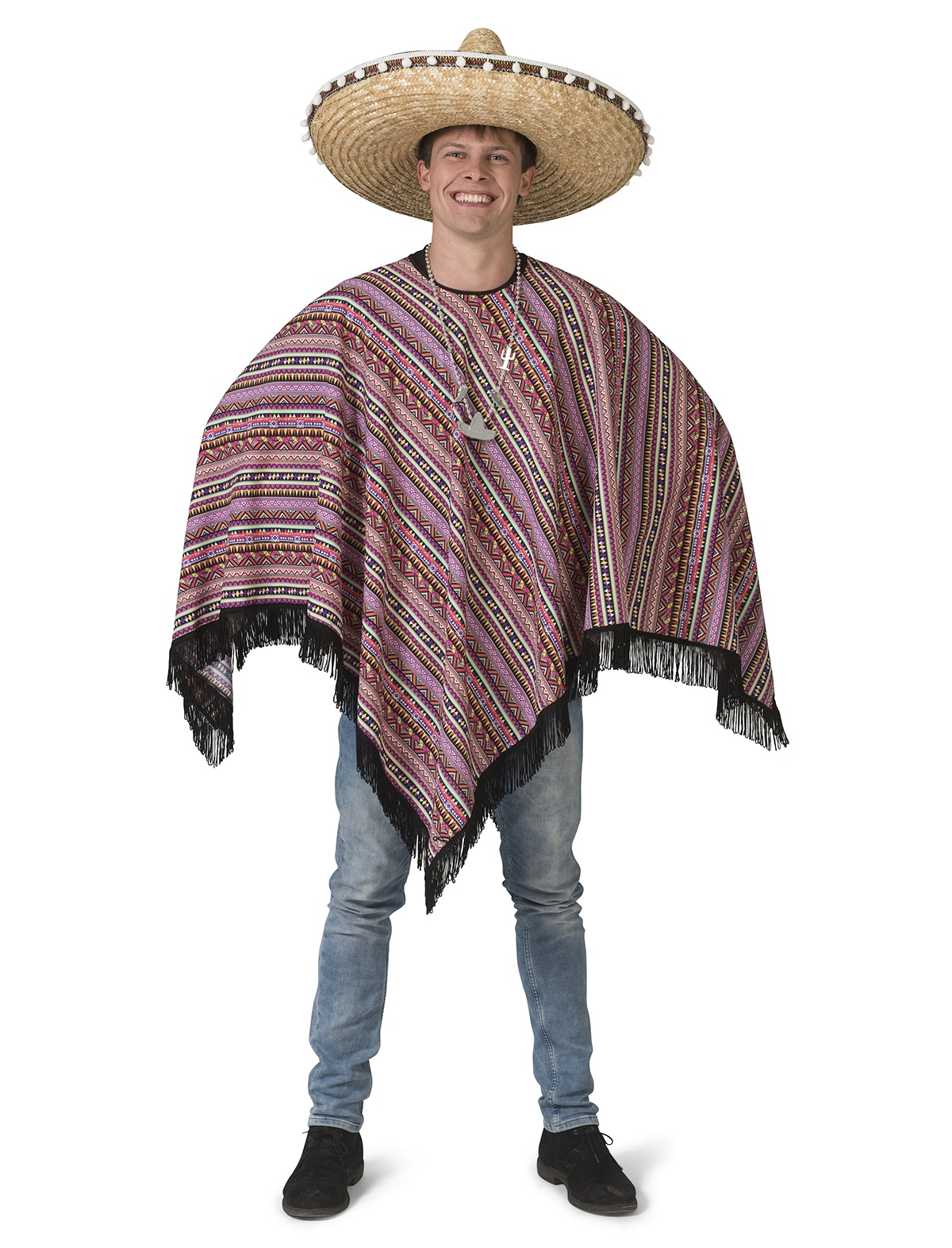 Mexicaanse poncho heren 1
